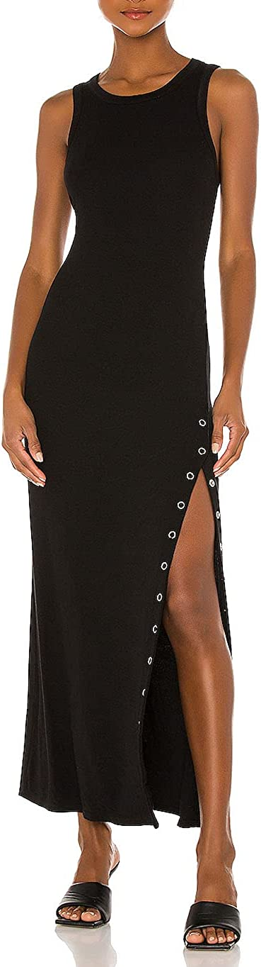 Women's Summer Sleeveless Credence Casual Tank Dress Slit Dallas Mall High Side Long