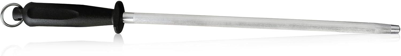 10 inch Sharpening Steel, Professional Carbon Steel Knife Sharpener