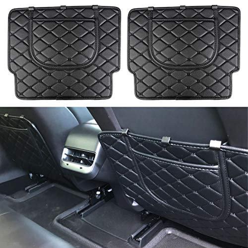 BASENOR Tesla Model 3 Car Seat Protector Mat Car Seat Back Kick Covers (Set of Two)