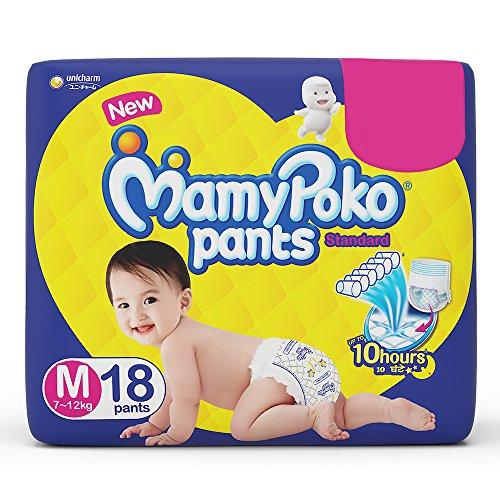 Mamypoko Pants Standard Diaper Medium M Size 18 Pieces