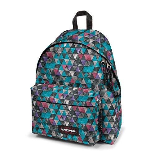 Eastpak Padded Pak'r Mochila Tipo Casual, Diseño Instant Crush, 24 Litros, Color Rosa Azul (Aqua Geo June)
