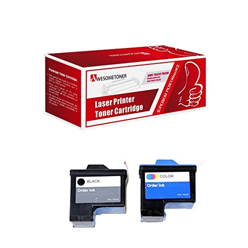Awesometoner 2 Pack Remanufactured (Series 1) DELL T0529 T0530 Black Cyan Ink Cartridges for Dell A920 All-In-One and 720 Printers