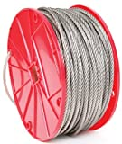 """Stainless Steel Wire Rope 1/16"""" 7 by 7"""