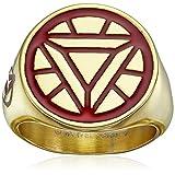 Marvel Comics Men's Stainless Steel Enamel Ironman Ring, Size 10