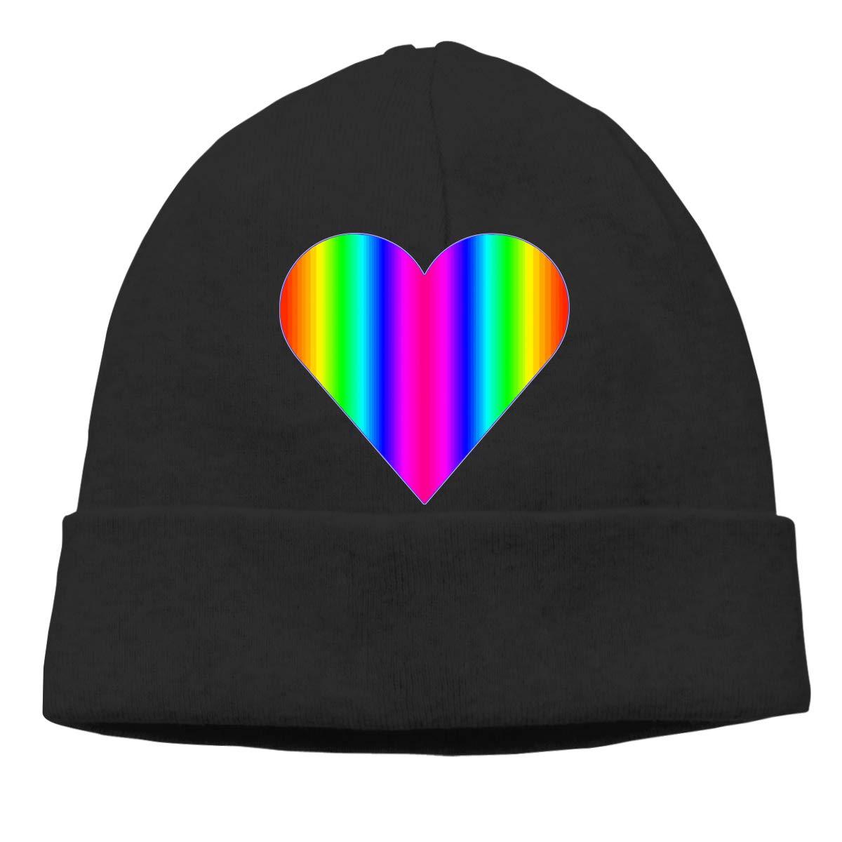 Hearts Clipart Rainbow Men//Women Baggy Sports Beanie Skull Cap