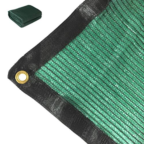 Didaoffle 70% Sunblock Shade Net Green UV Resistant, Premium Garden Shade Mesh Tarp, Top Shade Cloth Quality Panel for Flowers, Plants, Patio Lawn, Customized (12ft x 16ft) ()