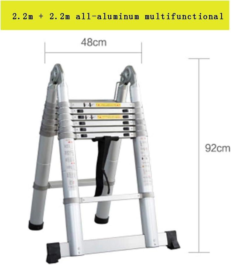 Multipropósito Telescópica Una Escalera Marco con Bisagras De Extensión Plegable De Aluminio Escalera Plegable para Trabajo Pesado MAX Capacidad De Carga De 330Lb Inicio De Trabajo Al Aire Libre,F: Amazon.es: Hogar