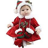 "Minidiva Reborn Baby Doll RB101, 100% Handmade Soft Silicone 17"" /42cm Lifelike Christmas Doll For Children"