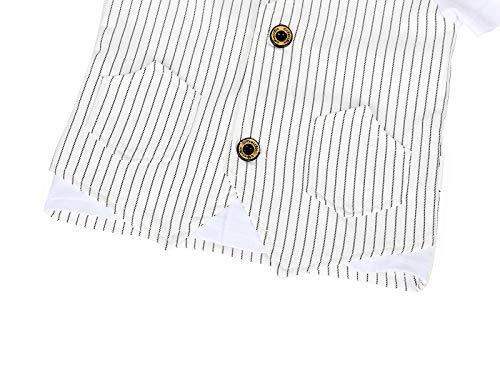AmzBarley Gentleman Abiti Bambini Formale Camicia Pantaloni Giubbotto Cravatta Set di Vestiti Bimbo Ragazzi per Festa… 5