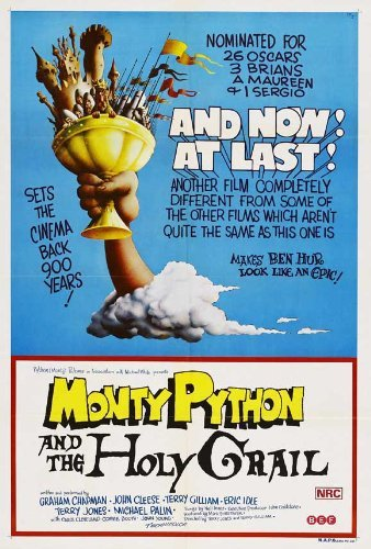 Monty Python and the Holy Grail POSTER Movie (27 x 40 Inches - 69cm x 102cm) (1975) (Australian Style A) by Decorative Wall Poster