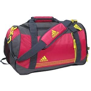 adidas Women's Squad Duffel Bag, One Size/10 3/4 x 20 x 9 3/4-Inch, Blast Pink/Vivid Yellow