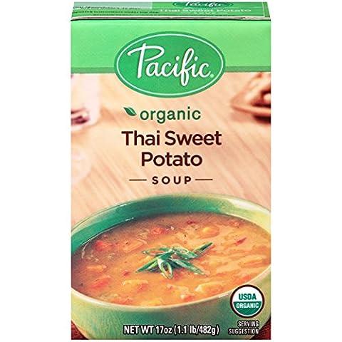 Pacific Foods Organic Thai Sweet Potato Soup, 17-Ounce Cartons, 12-Pack - Thai Natural