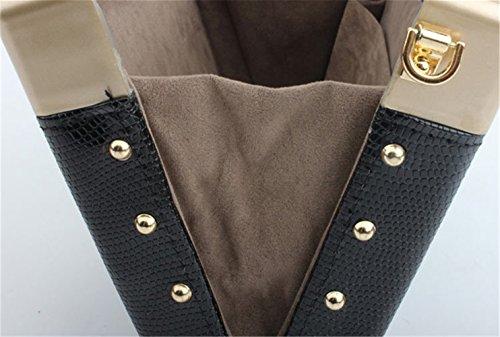 TOMATO-smile - Bolso mochila  de poliuretano para mujer negro negro café