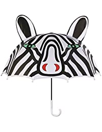 Black and White Zebra Umbrella for Girls With Fun Pop-Up Zebra Ears