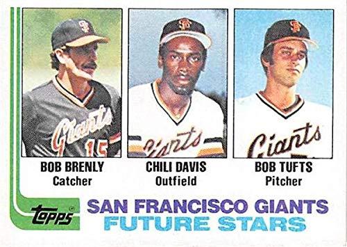 Bob Brenly Chili Davis baseball card rookie (San Francisco Giants) 1982 Topps #171