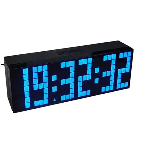 ZYPMM Reloj Europeo Reloj electrónico Alarma de la Temperatura de la Temperatura Digital de la exhibición