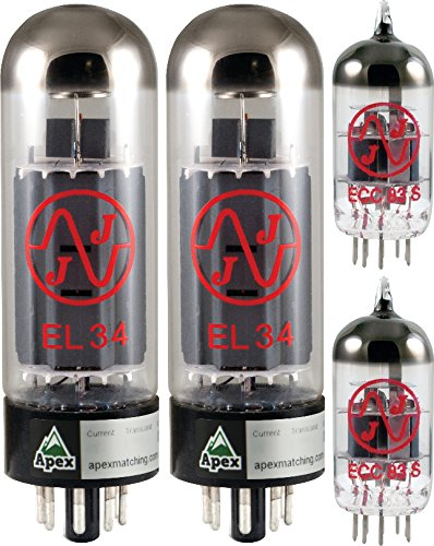 Blackstar Venue Series HT Club 40W Tube Set, JJ Tubes (x2 EL34, x2 12AX7), Apex Matched
