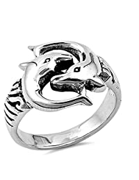 Dolphin Wholesale Ring New .925 Sterling Silver Band Sizes 5-9