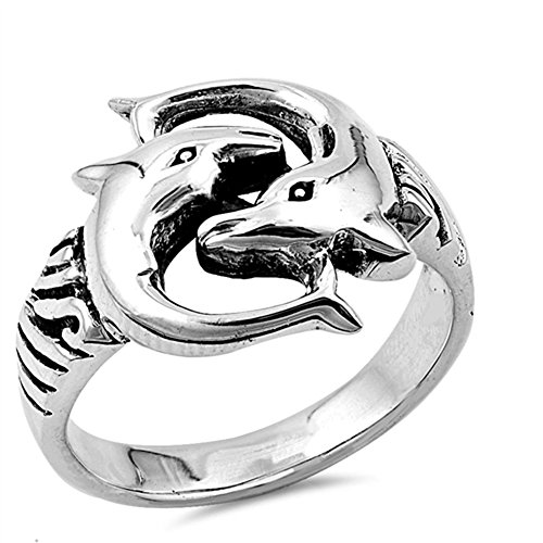 Dolphin Wholesale Ring New .925 Sterling Silver Band Size 7
