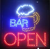 beer bar signs - Creative Motion Bar with Beer Mug and Open Sign Light