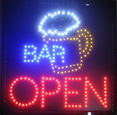 Creative Motion Bar with Beer Mug and Open Sign ()