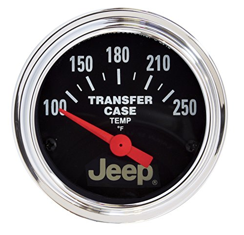 "Auto Meter 880430 Jeep 2-1/16"" Electric Transfer Case Temperature Gauge (100-250Degree F, 52.4mm)"