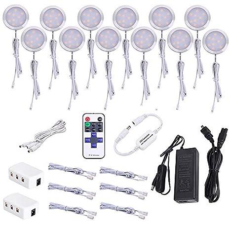 Amazon.com: AIBOO Kit de luz para debajo del gabinete ...