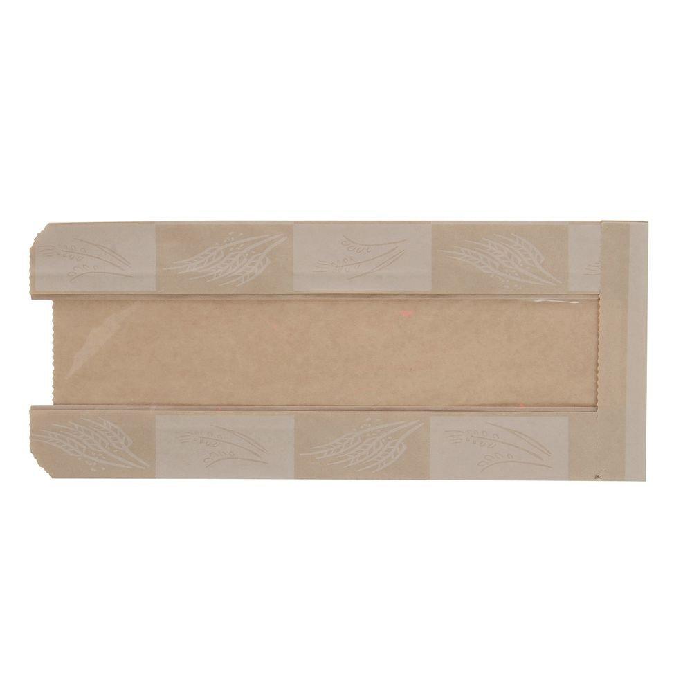 EcoCraft Artisan Kraft Bread Bag With Window - 6 1/2 L x 3 1/2 W x 13 1/2 H