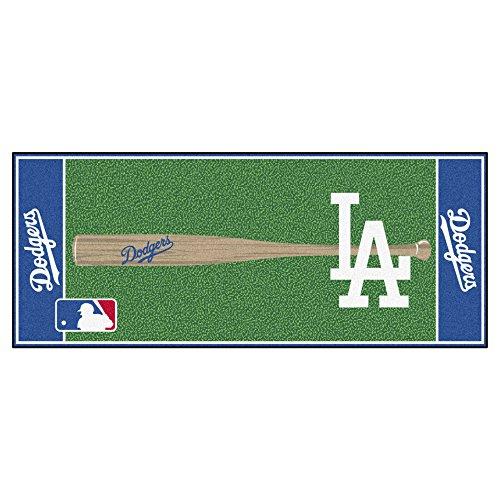 MLB Los Angeles Dodgers Non-Skid Baseball Mat Area Rug - Rug Runner Baseball