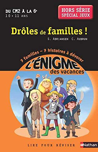 Amazon Fr Cahier De Vacances Enigmes Vacances Droles De Famille Adriansen Sophie Aubrun Claudine Livres