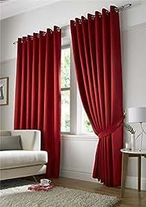 RED DOT SPOTTY 46 x 137,16 cm MICRO 117 x 137 cm forrado cortinas anillo superior