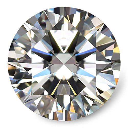 Diamond Round Loose Diamonds (VAN RORSI&MO Moissanite DF Colorless Simulated Diamond Loose Stone, Round Brilliant Cut Excellent Cut VVS Clarity(1.00ct))