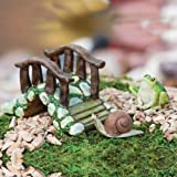 Mini Garden Bridge With Frog And Snail Statue Set