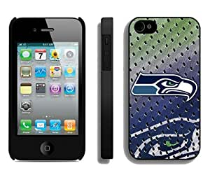 Popular And Durable Custom Designed Case For iPhone 4 With Seattle Seahawks 02 Black Phone Case