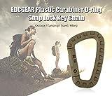 NiceWaveTravel Hiking Plastic Carabiner D-Ring Lock Key Chain Hook