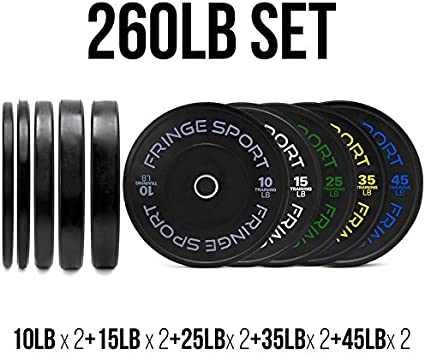 Contrast Lettering Bumper Plate Sets By Onefitwonder Different Weight Pair Sets 260 Exercise Fitness Amazon Canada