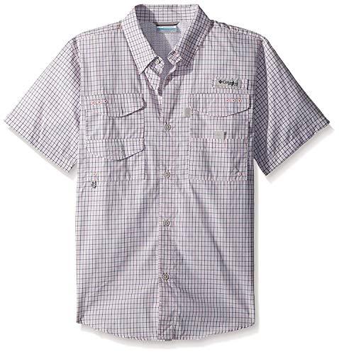 Columbia Toddler Boys Super Bonehead Short Sleeve Shirt, Cupid Mini Plaid, 3T