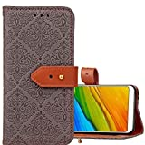 Mobile Phone Leather Cases for Xiaomi Redmi 5 European Style Embossed Horizontal Flip