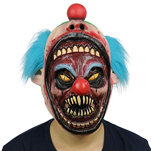 LarpGears Novelty Halloween Costume Party Latex Scary Monster Clown Mask for Adults