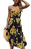 Elsofer Women's Summer Dresses With Pockets Bohemian Sunflower - Best Reviews Guide