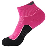No Show Running Socks, Luccalily Unisex Cushioned Ankle Support Short Trekking Hiking Quarter Socks 1,3 Pairs