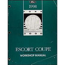 1998 Ford Escort ZX-2 Coupe Repair Shop Manual Original