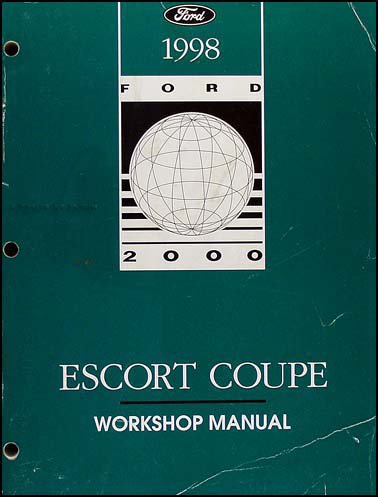 1998 Ford Escort ZX-2 Coupe Repair Shop Manual Original