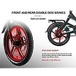 Makibes-Samebike-JG7186-Bicicletta-Elettrica-Pieghevole-Unisex-Adulto-E-Bici-Motore-da-250-W-Fino-a-25-kmh-velocit-Max-65-km-a-Lungo-Raggio-Pneumatici-gonfiabili-da-16-Pollici-Nero