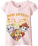 Paw Patrol  Toddler Girls' Short Sleeve T-Shirt Shirt, Light Pink Hearts, 5T