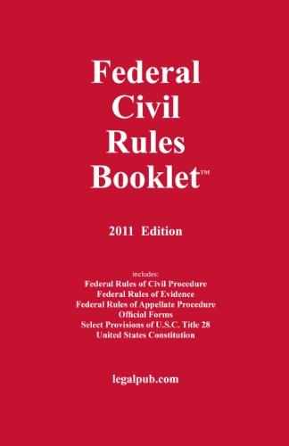 2011 Federal Civil Rules Booklet
