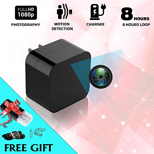 2018 Model: Spy Camera Wall Charger, Night Vision-1080P HD Resolution, Nanny Cam USB Security Camera, Supports 128GB SD Memory Card - Superior Motion Detection, Wi-Fi Viewing. Free Charger. No Audio. by Moral Chase