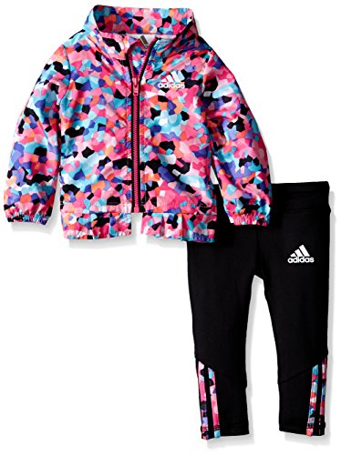 adidas Baby Girls' Wind Jacket and Pant Set, Mosaic Print, 3 Months Adidas 3 Stripes Wind Pant