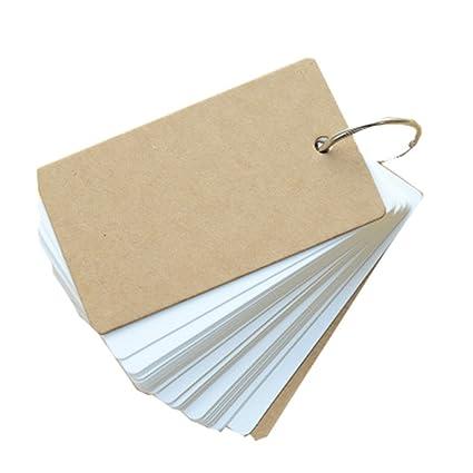 Chytaii Tarjeta Notas Papel Agenda Portátil Mini Tarjetas de ...