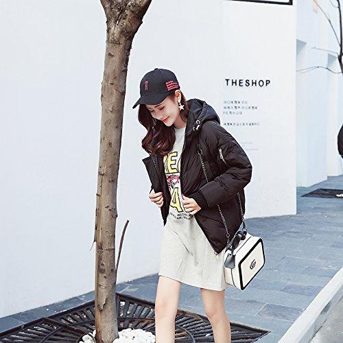 Black Short Bread Paragraph Xuanku Jacket Loose Clothing Female Cotton Winter Cotton Harajuku Coat qwq7FS1